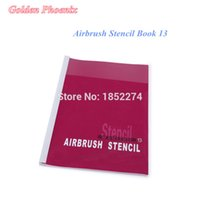 Wholesale Tattoos Designs Book - Wholesale-Free Shipping Golden Phoenix Temporary Airbrush Stencil Book 13-Tattoo Stencil 53 Totem Designs For Body Paint Free Shipping