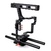 DSLR Rod Rig Camera Video Cage Kit Handle Grip CS-V5 C5 para Sony A7 A7r A7s II A6300 A6000 Para Panasonic GH4