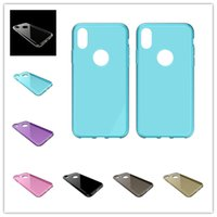 Para iPhone X 5,8 polegadas 6 7 mais Samsung S8 Nota 8 Soft Tpu Clear Transparente Case Jelly Black Back Cover Skin Shell ultra fino