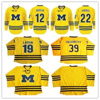 Wholesale Custom your name number or Blank Stitched Hockey Jersey Dylan Larkin University of Michigan Pacioretty Porikos Hagelin Jerseys