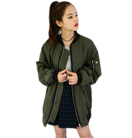 Wholesale College Student Clothing - Wholesale- 2016 new autumn and winter Korean Harajuku College wind loose baseball clothing BF wind students thick coat large female tide