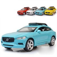 Wholesale Car Model Volvo - Hot 1:32 VOLVO XC Cars Metal Alloy Diecast Toy Car Model Miniature Scale Model Sound and Light Emulation Electric Car