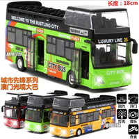 Wholesale Remote Control Bus Toys - Wholesale- 83.Remote control alloy bus double-decker tour bus model car toy car gifts children's educational toys gifts