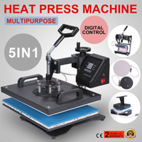 "Wholesale Machine Digital Sublimation - 5 in 1 Digital Heat Press Machine Multifunctional Transfer Sublimation for T-Shirt Mug Cup Hat Cap 15""X12"" 38X30cm Heat Platen"
