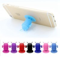 Wholesale Silicone Android Robot - Android Robot Cellphone Holder Mounts Suction Cups Cute Holder Silicone Sucker Car Holder for All Mobile Phone