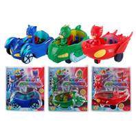 детские игрушки для детей оптовых-ПиДжей рисунок Pjmasks герой Коннор Catboy Catcar Owlette Сова планер Гекко Гекко-мобильный вытяните назад автомобиль игрушки для детей игрушек Хугете