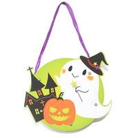 Wholesale Diy Bags - Halloween Gift Bags DIY Paper Halloween Decorations Candy Bag Drawstring Kids Trick or Treat Bag Children Pumpkin Bags Gift Bags