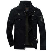 военные куртки для оптовых-Мужчины армия куртки плюс размер 6XL горячая стоимость верхняя одежда вышивка мужская куртка для