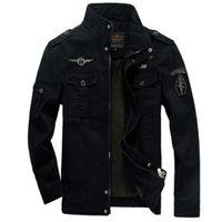 armeejacken für männer großhandel-Männer Armee Jacken plus Größe 6XL Hot Cost Oberbekleidung Stickerei Herren Jacke für