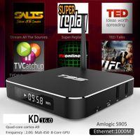 Wholesale Hdmi Android Tv Box Rj45 - Amlogic S905 T95 2g Android 6.0 TV Box Amlogic S905 Quad Core 2GB 8GB kd17.1 Bluetooth Dual WIFI 2.4GHz 5.0GHz RJ45 1000M LED Display