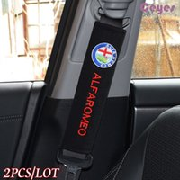 Wholesale Alfa Romeo Gt - Car Seat Belt Cover Shoulder Pad for Alfa romeo 159 156 147 mito gt Safety Belt Cover Car Accessories Styling 2PCS LOT