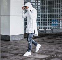 Wholesale Men Hoodi - Hot Sale Men's Pullover Hip Hoodie Long Sleeve Sweatshirts Mental Zipper Hoodie Casual Jackets Autumn Winter Hip-Hop Loose Coat Lovers Hoodi