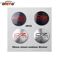 Wholesale Modified Hot selling auto Wheel Center Emblem Stickers mm inch for OZ Racing B7 CC Jetta MK5 MK6 Tigun car styling