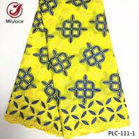 Wholesale Swiss Embroidery Lace Fabric - 2017 Newest arrival african swiss cotton embroidery lace fabric rhinestones nigerian swiss lace fabric PLC-111