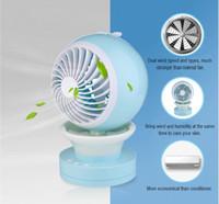 Wholesale Desk Cool - Portable Mini Misting USB Desk Fan Cooling Humidifier Rechargeable Water Spray Fan