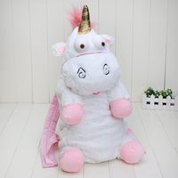 Wholesale Despicable Plush Bags - Despicable Me unicorn bag plush unicorns toy backpack toys for kids birthday gift retail