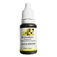 Wholesale Brown Tattoo Ink Kit - Wholesale- New Beauty Permanent makeup pigment 1 Bottle Black Brown A 15ml high quality hot sale tattoo ink kit