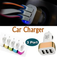 Car Charger Mini Traver Adaptador Universal Car Plug Triple 3 USB Puertos USB Cargador para iPhone X 8 iPod iPad Samsung Nota 8 S8 Plus S7 Edge