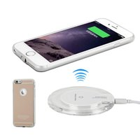 Wholesale For iPhone QI Wireless Charger Phone Case for iPhone s Wireless Charging Receiver Back lip Protection Shell Case only Opp Bag