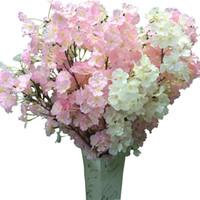 ingrosso fiore artificiale di qualità-Fiore di seta Fiore di ciliegio Fiore di seta per matrimonio Artificiale Sakura 2 Opzioni di colore Vasi di alta qualità Decorazione domestica 102-1019
