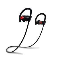 Wholesale Best Earphone Running - Best Wireless SportsBluetooth Earphones w  Mic Waterproof HD Stereo Running Workout 8 Hour Battery Noise Cancelling Headsets