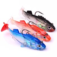 Wholesale Lead Baits - 5pcs 7.6cm 15.7g Package Lead Fish Silicone Lures Fishing Lure Soft Baits Fishing Hooks Fishhooks 6# Hook Artificial Pesca Tackle