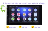 Wholesale Capacitive Android Double Din - 7 inches double din 12V car DVD Android 6.0 audio and video player HD capacitive touch screen 1080P video GPS 2GB RAM WIFI 4G mirror link