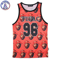 Wholesale 2pac Tank Top - Wholesale- Mr.1991INC Novelty Tupac 2PAC Tank Tops All Over Paint Hip Hop Vest Rock Roll Sleeveless Clothing Man Bodybuilding O Neck Muscle