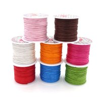 Wholesale Diy String For Bracelet - 1.0mm 10m Roll Waxed Cord For Bracelet And Necklace Making Wax Cordones Thread String Wholesale Diy Jewelry Accessory