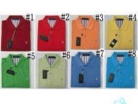 Wholesale Big Collar Shirt Xxl - New Gant Recreation big yards Short sleeve round collar lapel gt T-shirt bag mail island SIZE M-XXL