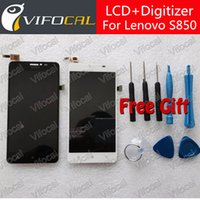 Wholesale lenovo digitizer glass - Wholesale- For LENOVO S850 LCD Display + Touch Screen 100% New Glass Panel Digitizer Assembly Replacement Repair Free shipping