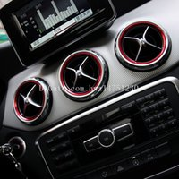 Wholesale Red Reflective Stickers - Dedicated to Mercedes-Benz A-class B-class CLA GLA air conditioning outlet decorative ring decorative stickers Mercedes-Benz AMG interior de