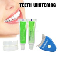 Wholesale Teeth Bleaching Lights - Wholesale-Original Tooth Whitening White LED Light Teeth Whitening Gel Whitener Dental Tooth Brightening Tooth Bleaching Whitening Lamp