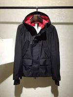 Wholesale Parka Style Jacket Men - M6520 Luxury Mon Brand men's trench coats spring autumn clothes jacket men zipper pocket rib sleeve Man casual parka Hooded plus M-XXXL