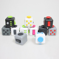 Wholesale DHL Carton Novelty Toys Fidget Cube colors the world s first American decompression anxiety Toys Cube Toy colors