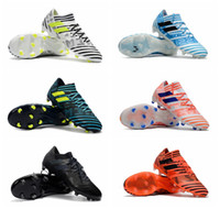 Wholesale Cheap Soccer Cleats Shoes - 2017 original soccer cleats Nemeziz 17.1 FG mens soccer shoes cleats boots football shoes cheap low top football boots black