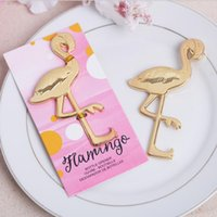 Wholesale Beach Birds - Wholesale metal zinc alloy Fancy And Feathered flamingo bottle opener beer opener Beach Theme bird Bridal Shower favors and gifts for guest