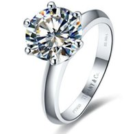 Diamantring Solitaire 14k Gold Kaufen -Verlobungsring 14k Weißgold Enhanced Diamond Solitaire 2Ct