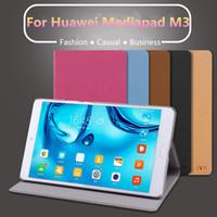 huawei mediapad ince durum toptan satış-Toptan Satış - Huawei Mediapad M3 Ultra İnce / Hafif Folio Standı Kapak Kılıf Huawei Mediapad M3 8.4 inç Kılıf