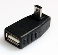 usb up angle cable venda por atacado-Atacado- 90 Graus Para Cima USB Fêmea para Mini USB Masculino Adaptador OTG