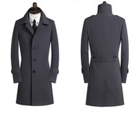 Wholesale trench coats for sale - Group buy 2018 New Spring Autumn Winter Men s Trench Coats Breasted Overcoat Size S XL