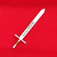 tronos de juego de hielo al por mayor-Juego de tronos espadas antiguo abridor de letras de plata espada artesanal canción de hielo y fuego arma colección película joyería 080090