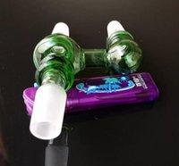 Wholesale Glasses Sockets - Three socket adapter bongs accessories , Glass Water Pipe Smoking Pipes Percolator Glass Bongs Oil Burner Water Pipes Oil Rigs Smokin