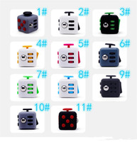 Wholesale Epacke Magic Fidget Cube Anti anxiety Decompression Toy First Generation Relieve Pressure Sieve Adults Stress Relief Kids Toy Gift Colors