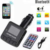 Wholesale Car Charger Aux Adapter - Bluetooth Car Kit MP3 Player FM Transmitter Wireless Radio Adapter USB Charger Car Kit AUX Audio Music Receiver Adapter Handsfree