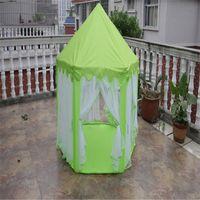 Wholesale Play Tent House - Wholesale-Portable Children Kids Play Tents Outdoor Garden Folding Toy Tent Pop Up Kids Girl Princess Castle Outdoor House Kids Tent