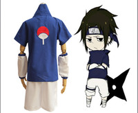 Wholesale naruto cosplay online - Anime Naruto Cosplay Uchiha Sasuke Cosplay Costume Halloween Clothes