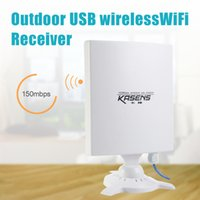 Wholesale Outdoor Wireless Adapter - KASENS N9600 High Power 6600MW 150Mbps USB Wireless WiFi Adapter Network Card 80 DBI Antenna 802.11B   G   N Outdoor Long Range +B