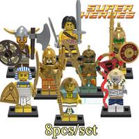 Wholesale Aztec Plastic - 2017 Building Blocks Figures Medieval Egyptian Warrior Aztec Pharaoh Atlantis Super Heroes Batmannes Bricks Kids DIY Toys Hobbies X0161