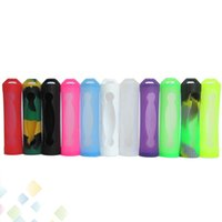 Wholesale E Cig Covers - 18650 Battery Cover Silicone Protective Cover Case Colorful Soft Rubber Skin Protector for E Cig 18650 Battery sony vtc3 vtc4 vtc5 DHL Free